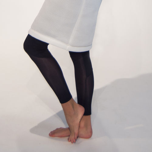 Black legging with transparent