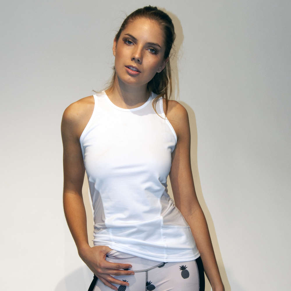 7703b55b77c676 Ladies singlet top with transparent panels –  31 – number31