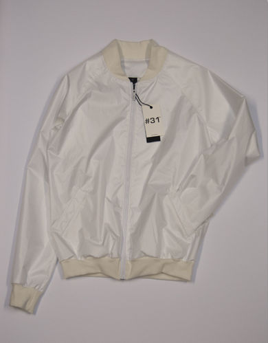 Ladies shell jacket with zip – white