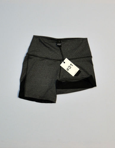 Ladies bicycle short with mesh – black and grey marl