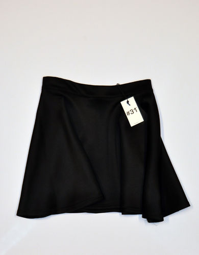 Ladies A-line skirt in scuba – black