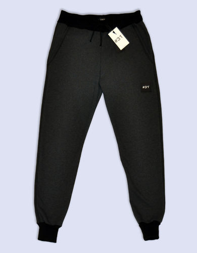 Ladies tracksuit bottoms in terry – grey marl